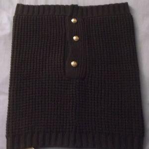 Michael Kors Waffle Knit Neck Warmer Scarf, Brown